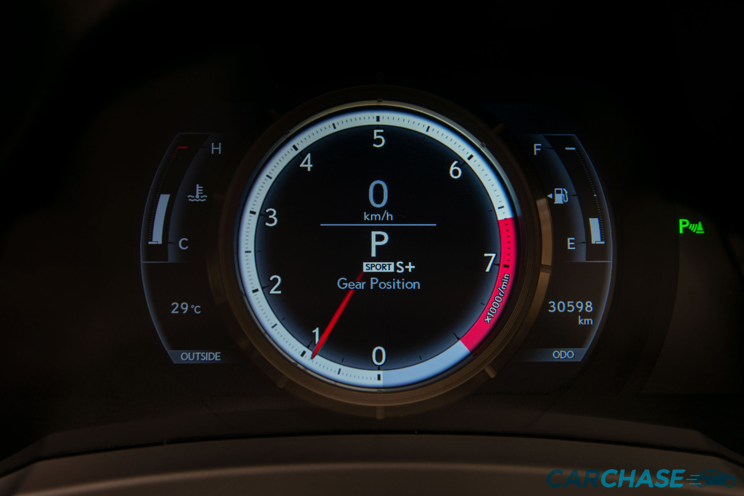 Image of dials profile of 2016 Lexus RC RC350 F Sport