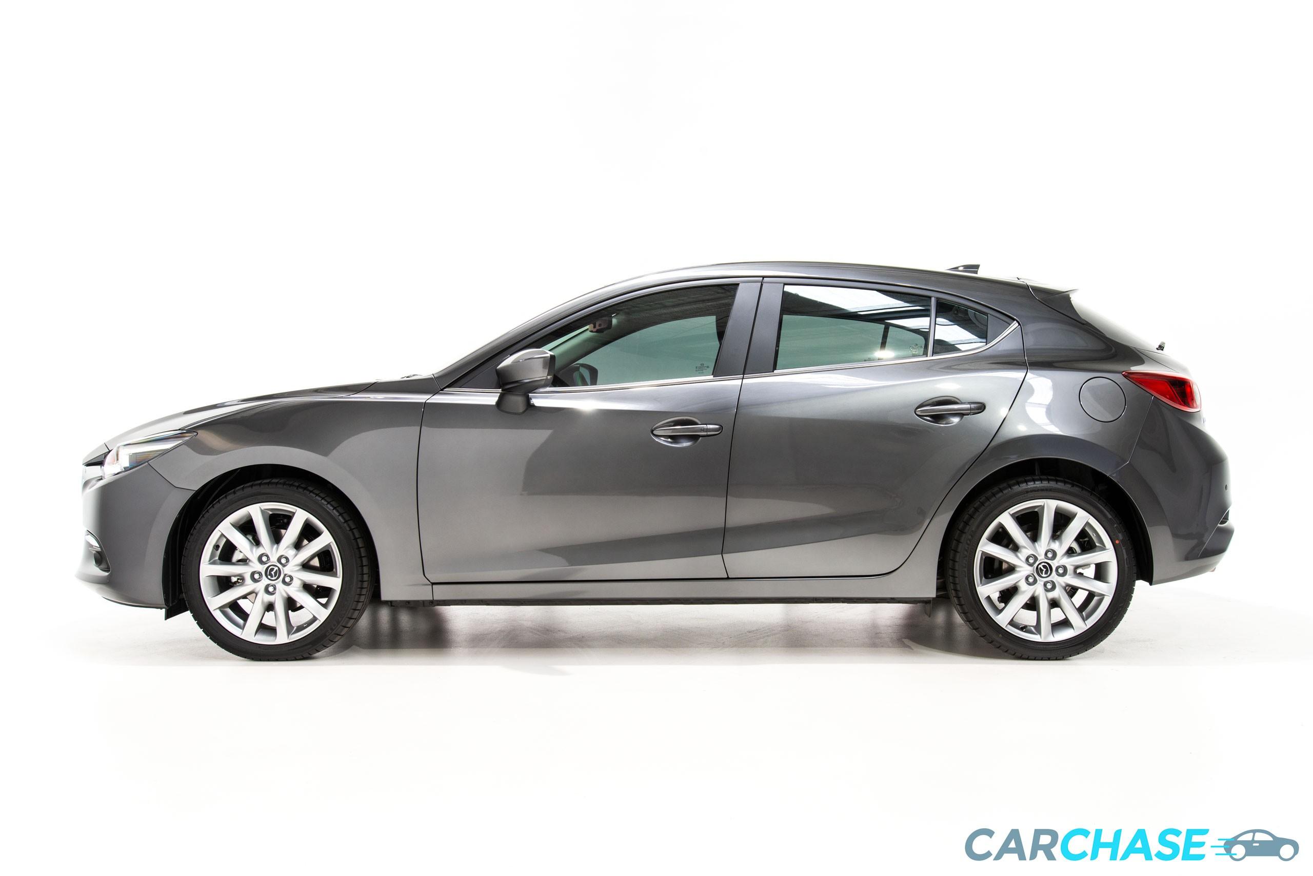 Image of left profile of 2018 Mazda 3 SP25 GT