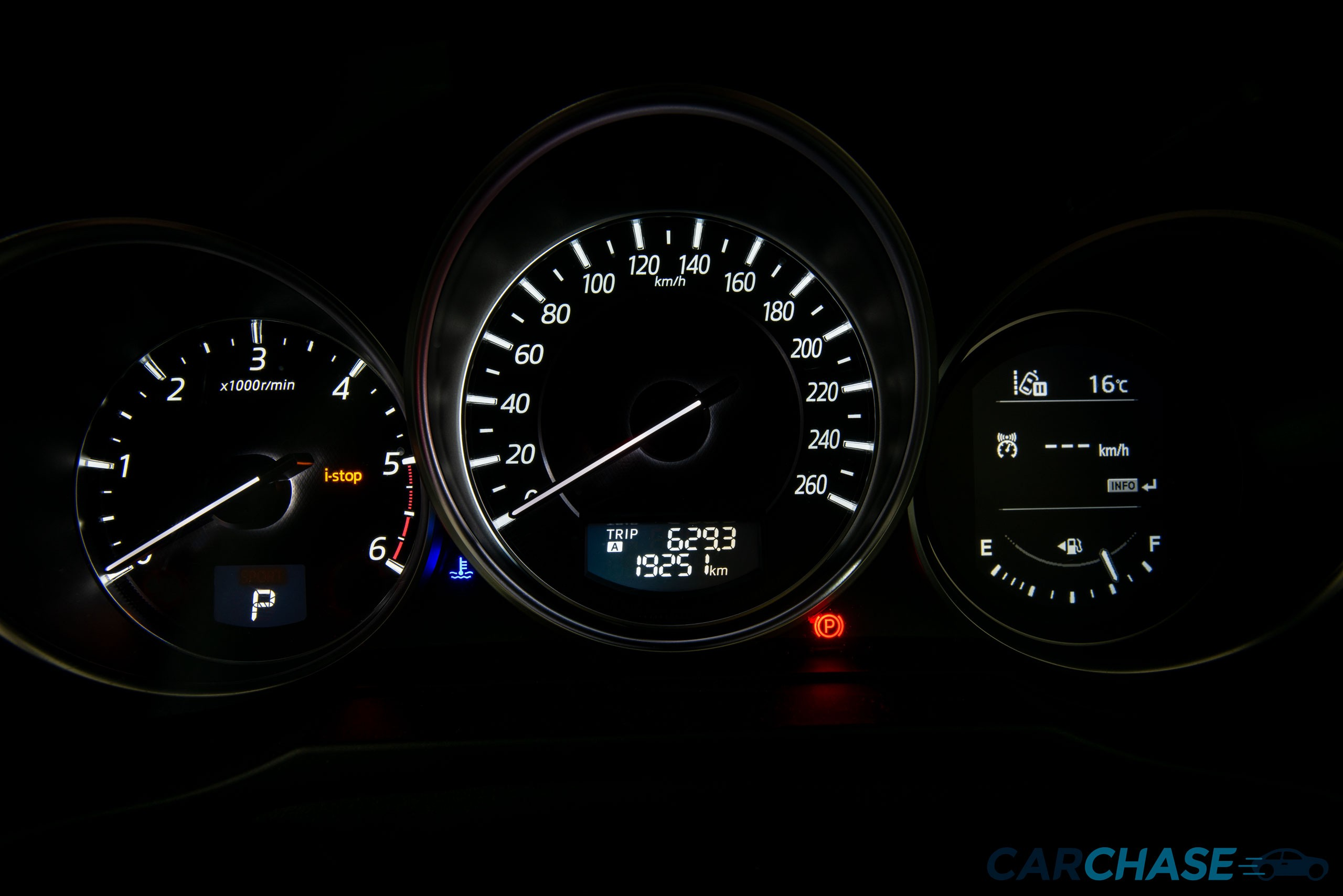 Image of dials profile of 2015 Mazda 6 Atenza