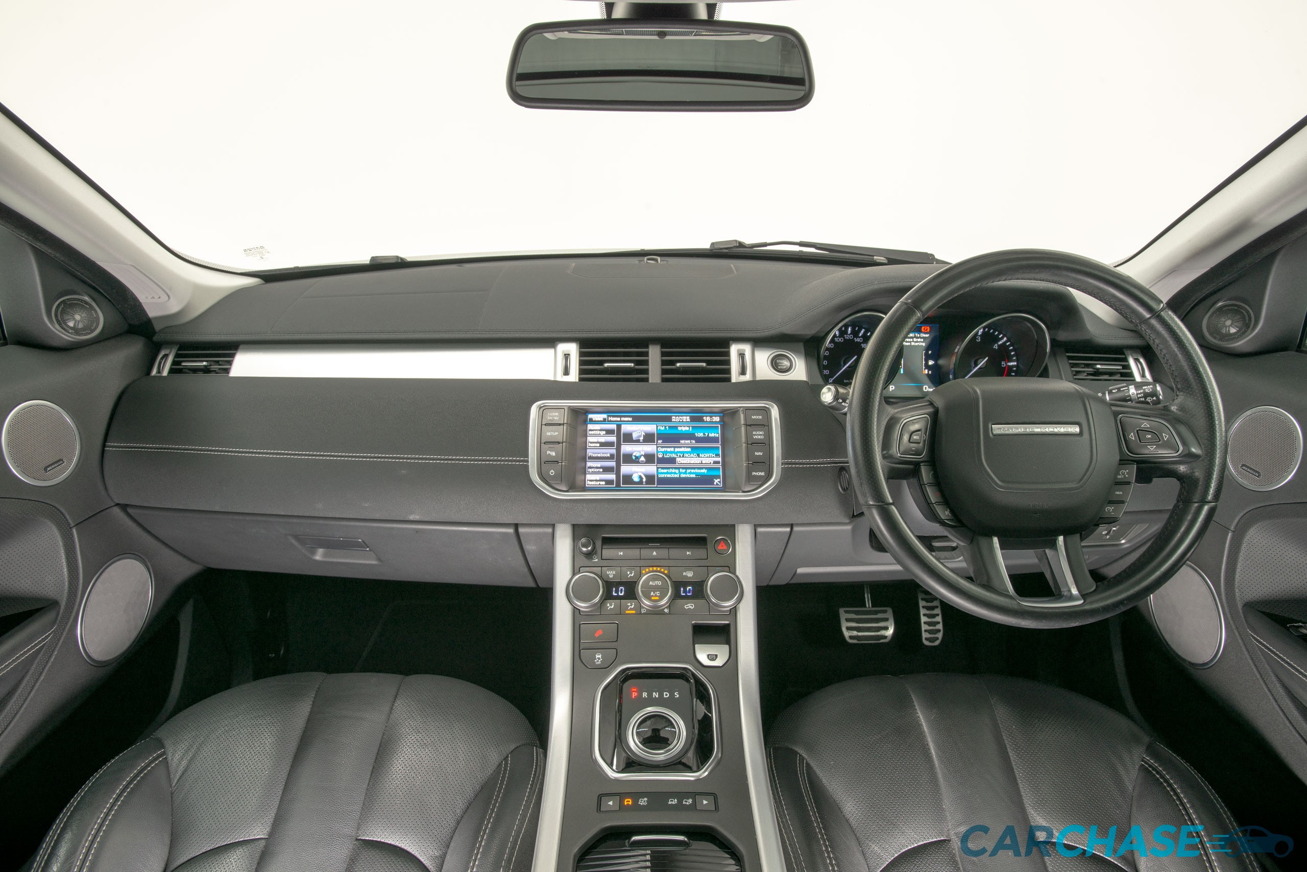 Image of dashboard profile of 2013 Land Rover Range Rover Evoque SD4 Dynamic