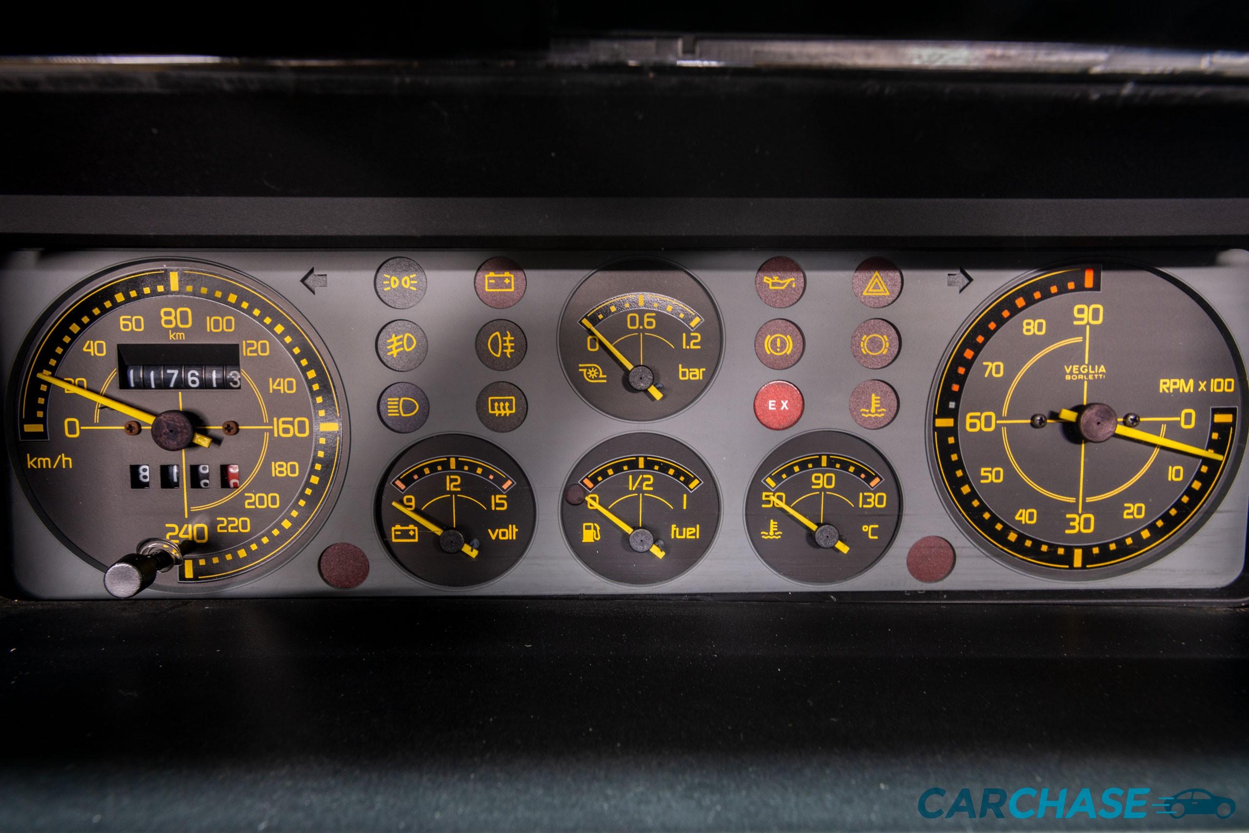 Image of dials profile of 1993 Lancia Delta Integrale Evo 2 Giallo Ginestra