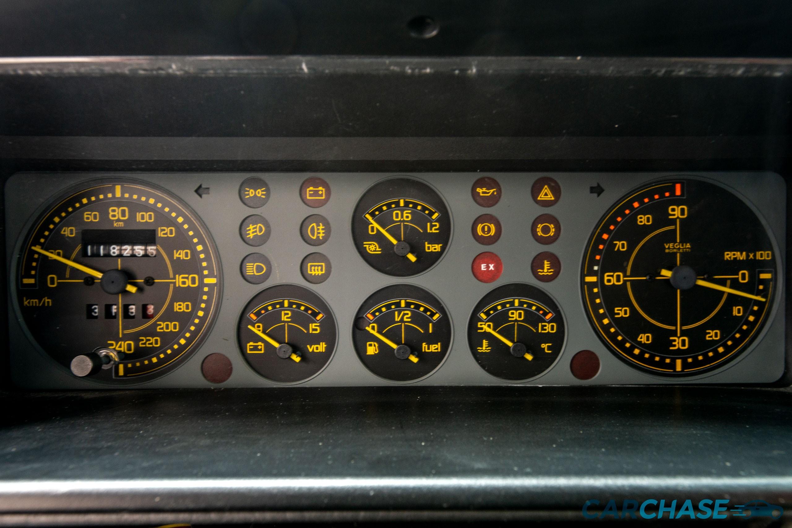 Image of dials profile of 1993 Lancia Delta Integrale Evo 2