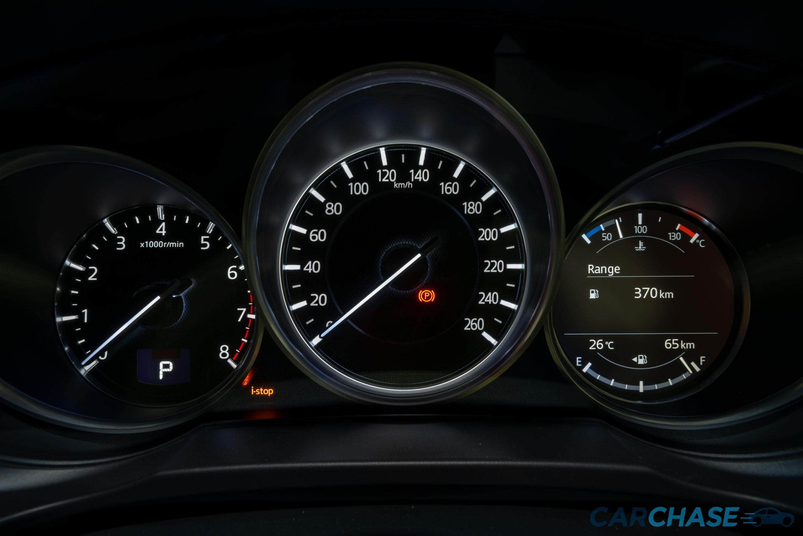 Image of dials profile of 2018 Mazda CX-5 GT