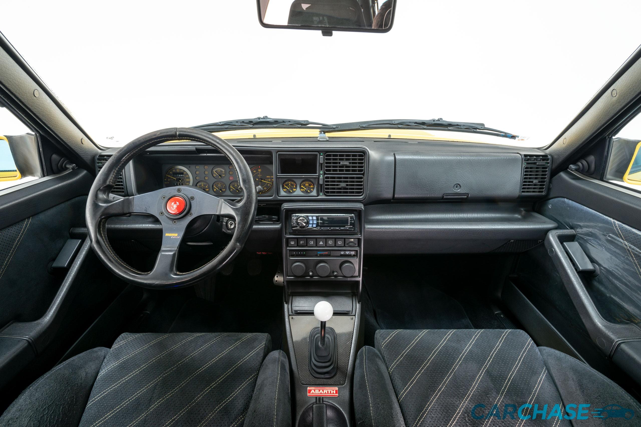 Image of dashboard profile of 1993 Lancia Delta Integrale Evo 2 Giallo Ginestra