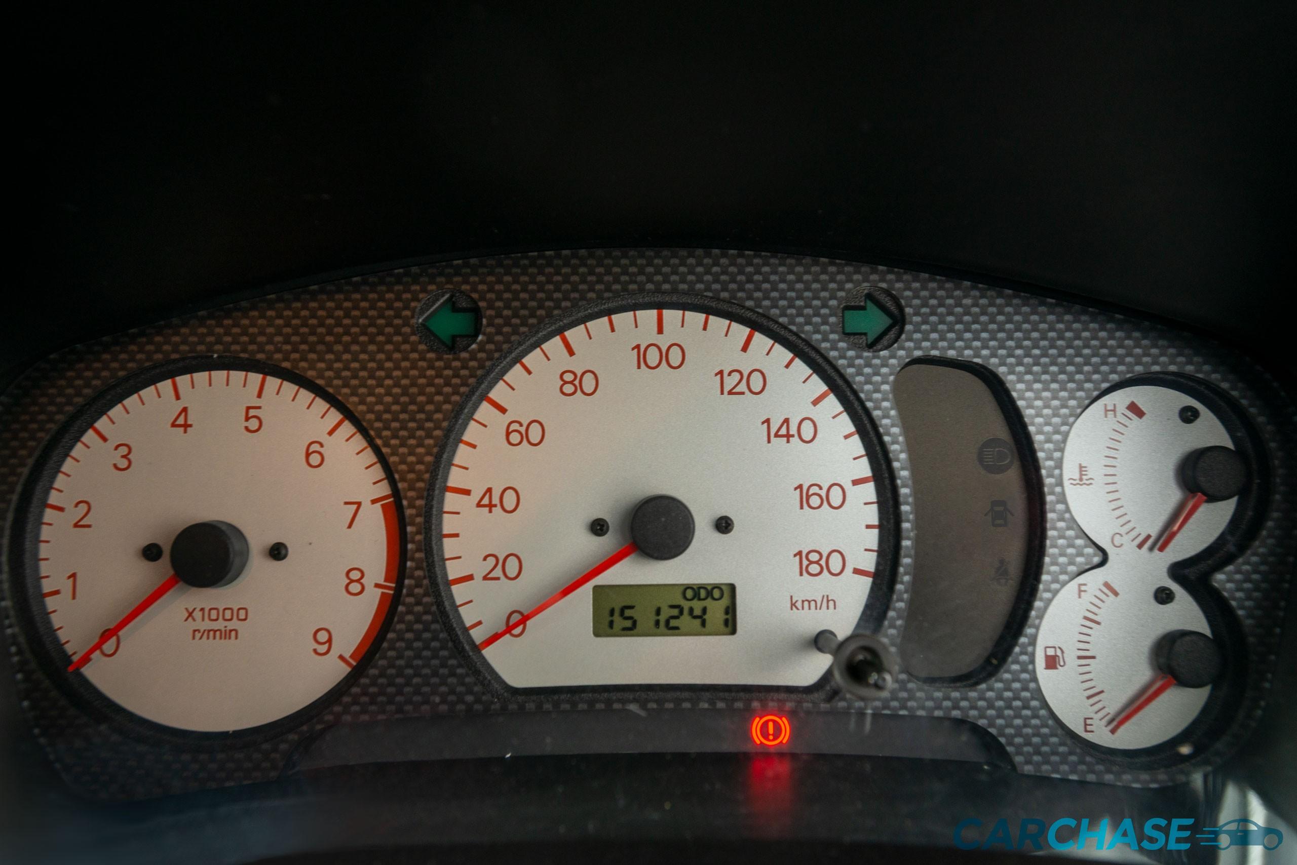 Image of dials profile of 1998 Mitsubishi Lancer Evolution V