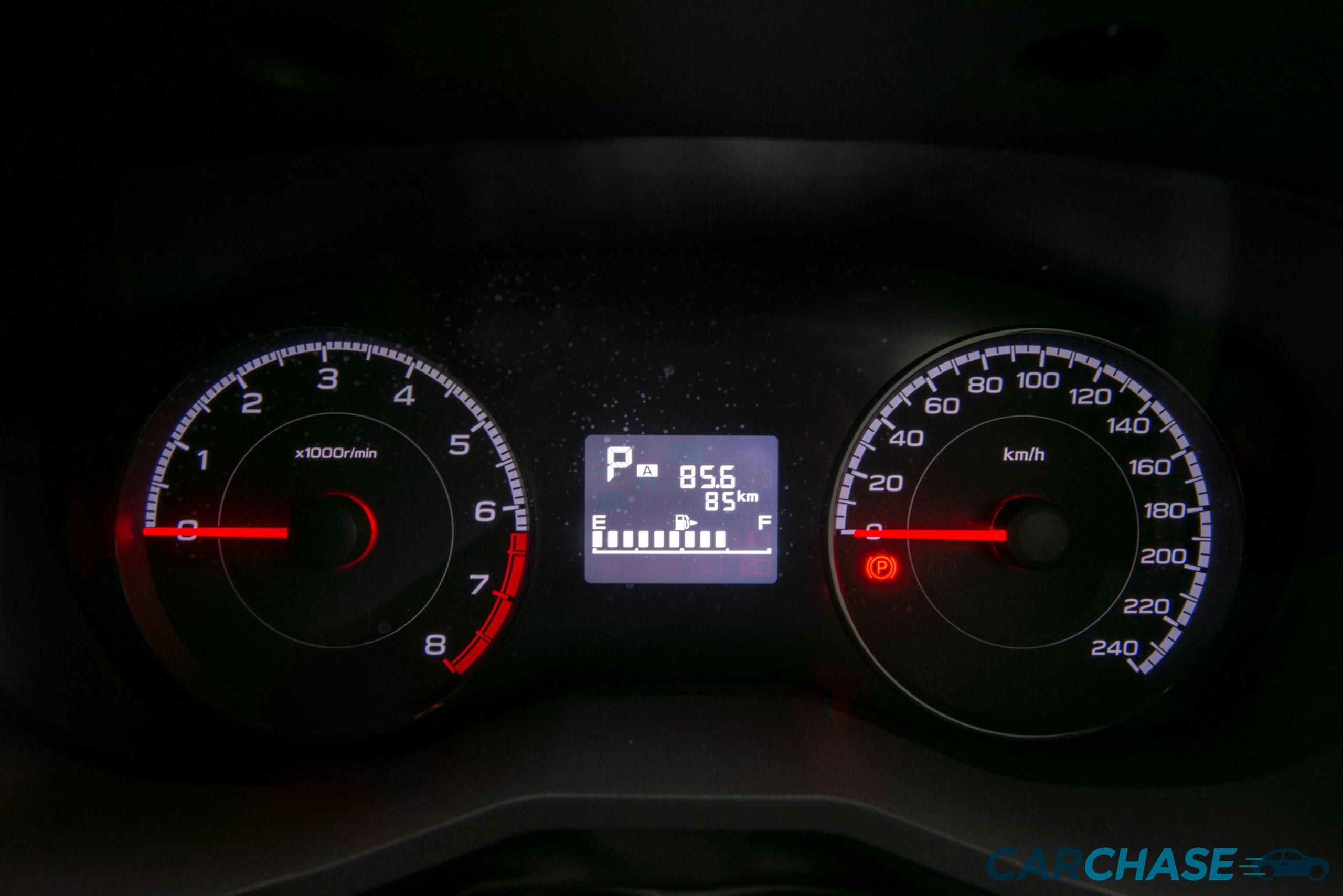 Image of dials profile of 2018 Subaru Impreza 2.0i