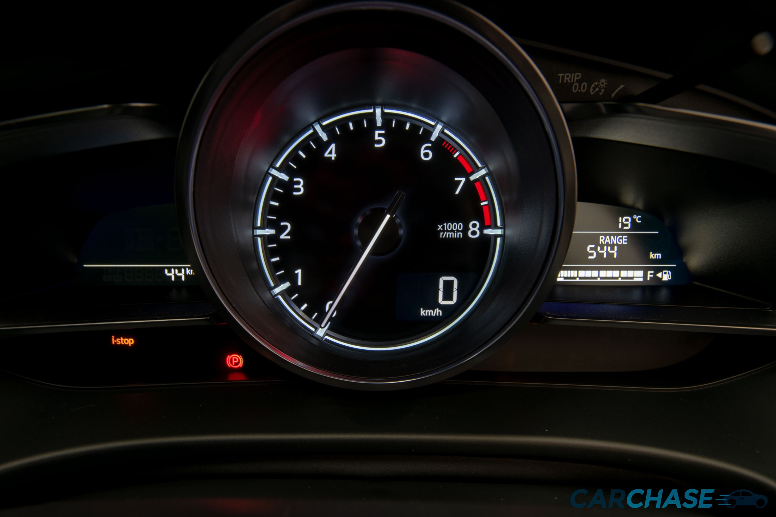 Image of dials profile of 2018 Mazda 3 SP25 GT