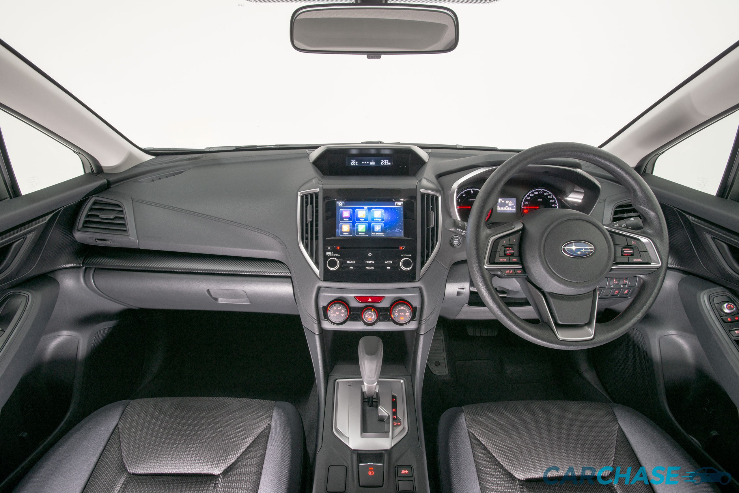 Image of dashboard profile of 2018 Subaru Impreza 2.0i