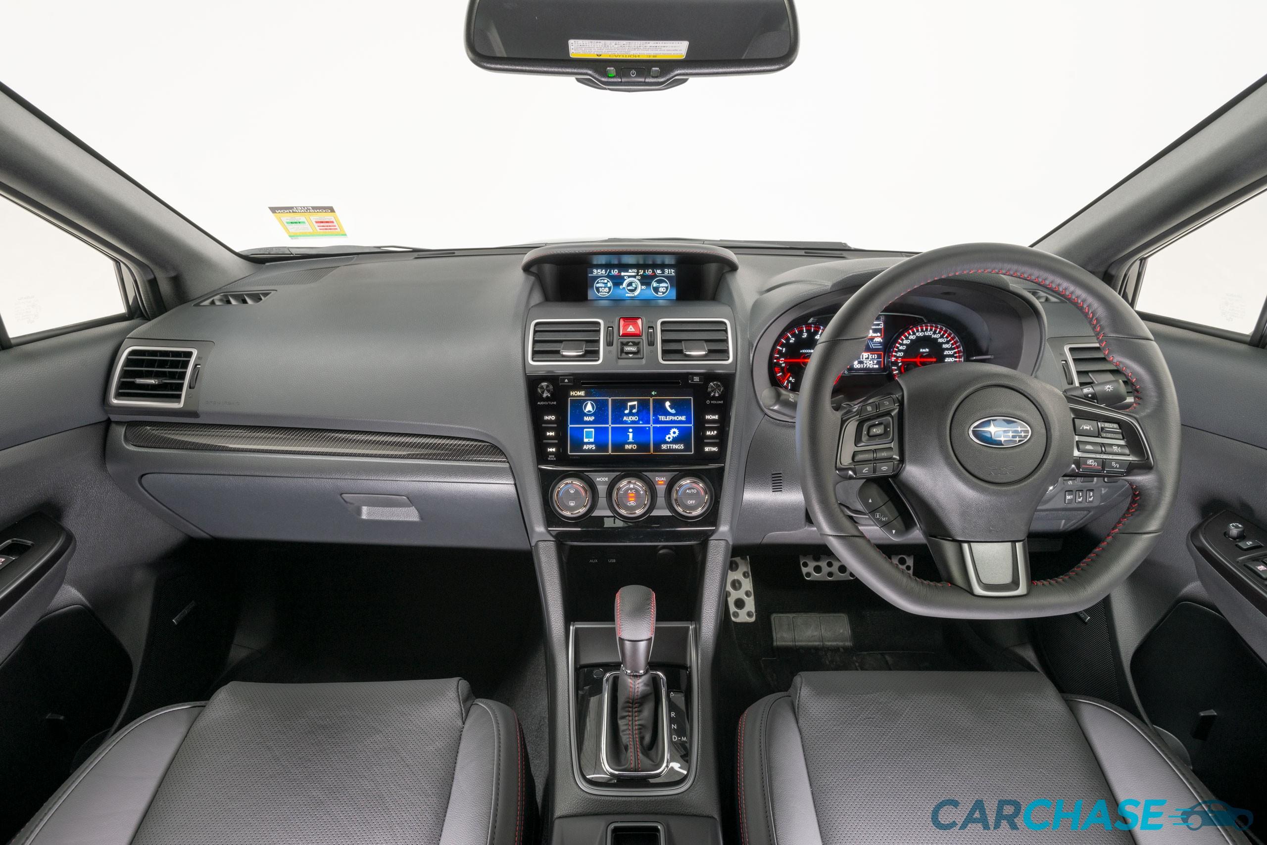 Image of dashboard profile of 2018 Subaru WRX Premium