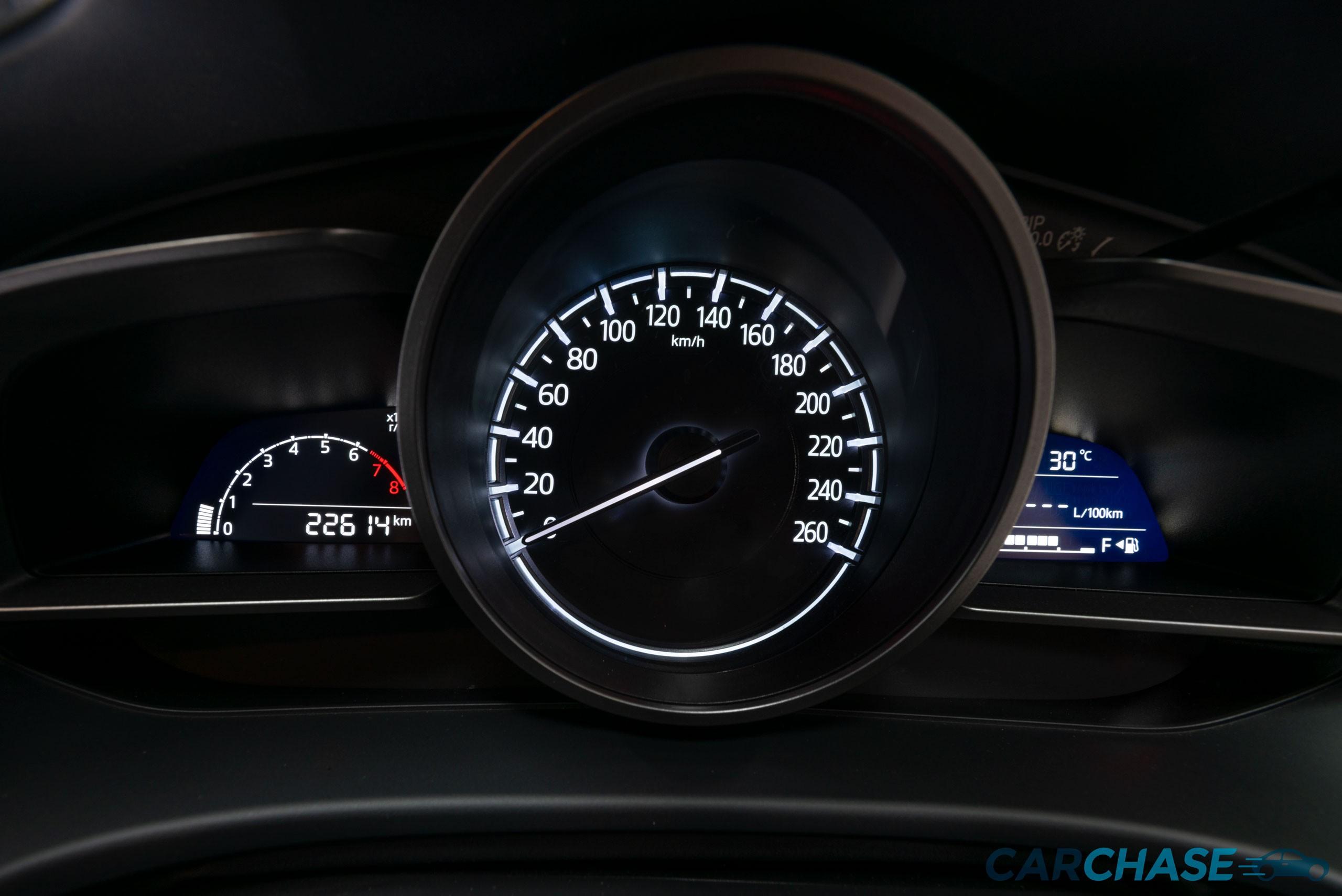 Image of dials profile of 2016 Mazda 3 Neo BN Series